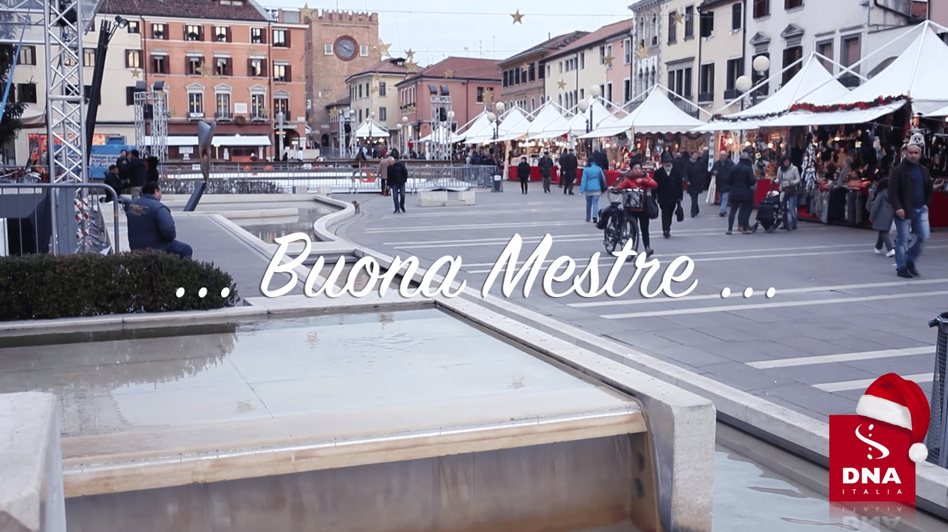 Tanti Auguri di Buon e Feste e Buona Mestre da DNA italia ed i commercianti di Mestre Centro