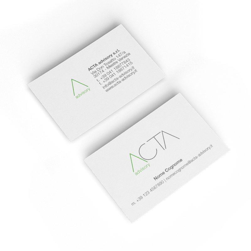 Biglietti da visita ACTA by DNA ITALIA