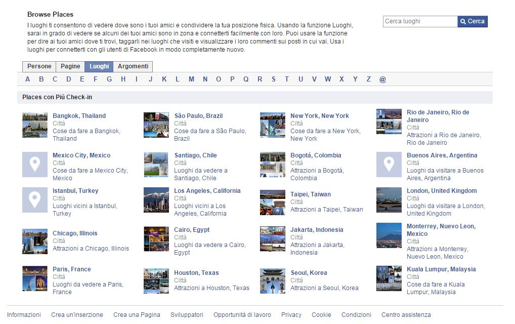 Facebook Places è pronto a diventare il nuovo Trip Advisor